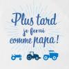 body bébé agriculteur ferme tracteur - comme papa - ADC