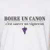 t shirt a phrase pour vigneron vigne - boire un canon - adc