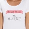 t-shirt pour femme agricultrice- la femme parfaite-avenue des champs