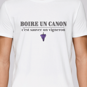 t shirt pour vigneron vigne homme - boire un canon-avenue des champs