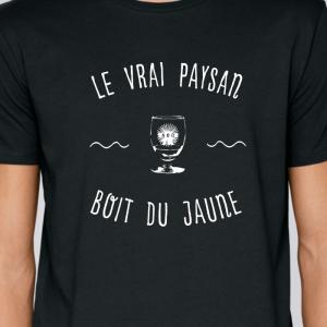 tee shirt a phrase paysan agriculteur - boit du jaune- avenue des champs