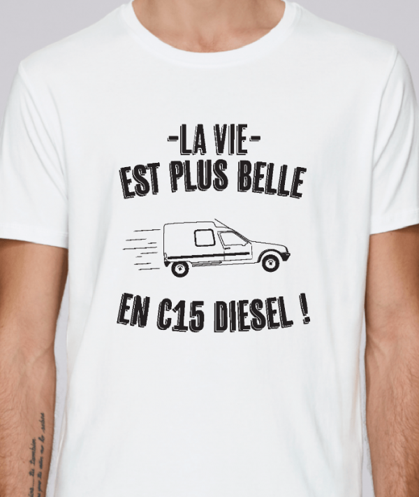 tee shirt humoristique pour agriculteur et fermier - c15-avenue des champs